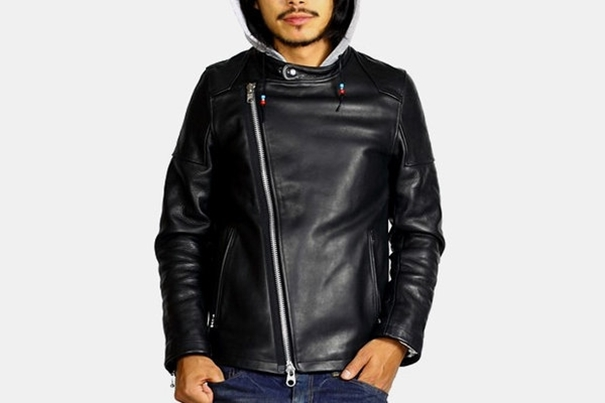 A leather jacket which is a pioneer in style and grace: